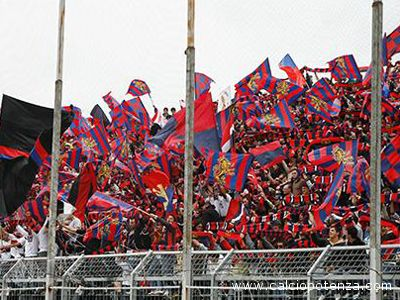 Fa festa anche il Potenza per la promozione in serie C1. Qui un'immagine degli ultras rossoblu