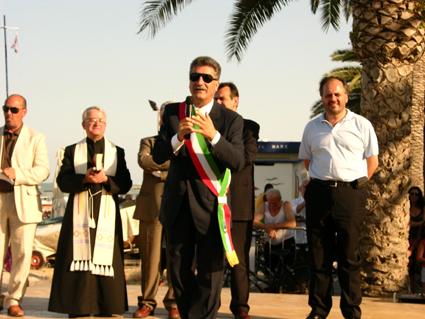 Viale Colombo - momenti della cerimonia di inaugurazione