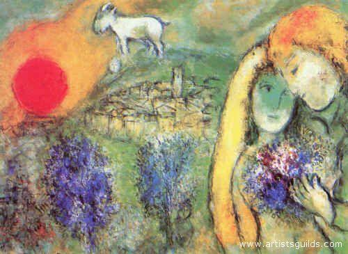 Un'opera di uno dei pittori russi più famosi, Marc Chagall