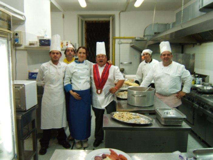 Alcuni chef che hanno partecipato all'evento