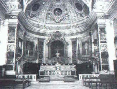 La chiesa di San Benedetto Martire prima dei bombardamenti nella guerra