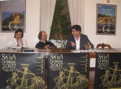 Un momento della conferenza di presentazione del programma della Sacra Giubilare 2007