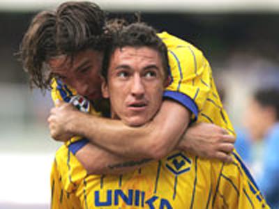 L'attaccante brasiliano del Verona Da Silva (foto tratta da www.hellasverona.it)