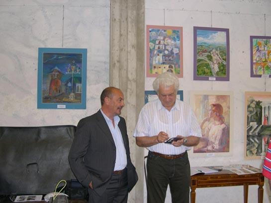Fausto Tedeschi e l'artista Santori