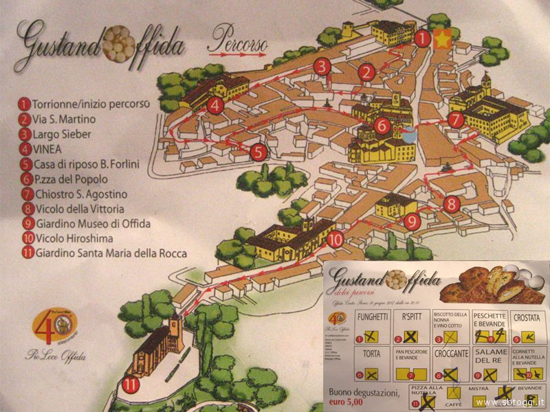 GustandOffida - la mappa del percorso