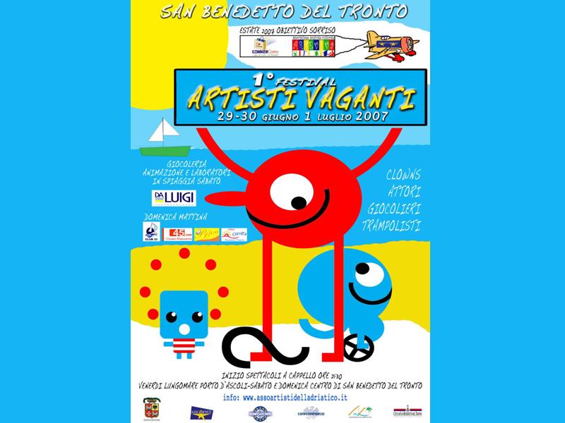 Il manifesto della prima edizione del Festival degli Artisti Vaganti