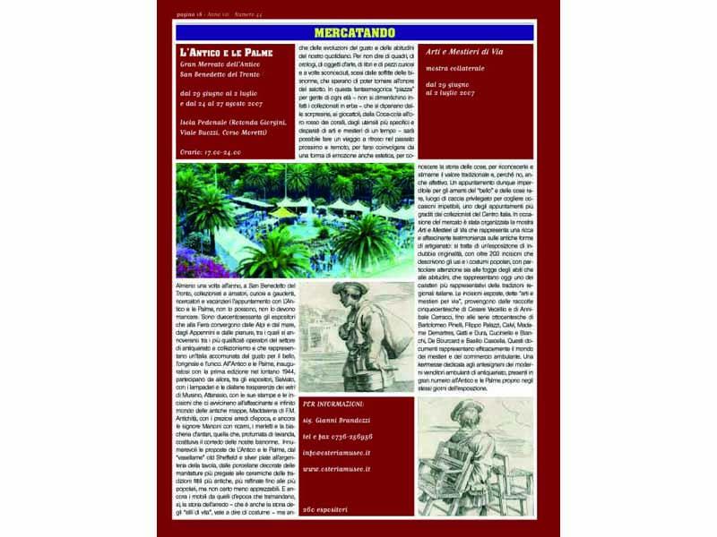 Un articolo dedicato a L'Antico e le Palme su una rivista di settore