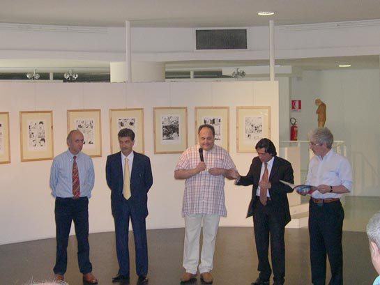 Angelo Maria Ricci, Luigi Merli, Michele Rossi, Enrico Piergallini e Massimo Rossi presentano l'esposizione