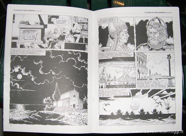 Due facciate del fumetto di Angelo Maria Ricci