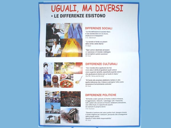 Manifesto Uguali ma diversi