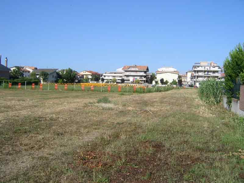 Il terreno dove dovrebbero sorgere le palazzine
