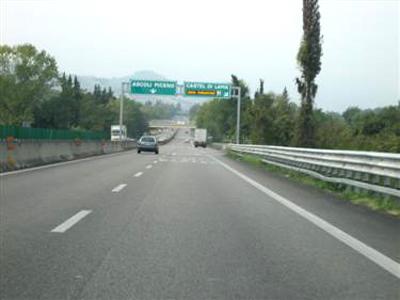 Un tratto della Superstrada Ascoli-San Benedetto