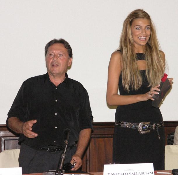 Cristina Chiabotto e Marcello Vallasciani durante la Convention di Bari