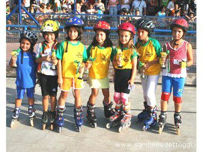 Alcuni giovani pattinatori che hanno partecipato alla 3a edizione del Trofeo Ecoservice