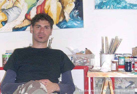 Francesco Colella nel suo studio