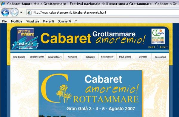 Il sito web del Cabaret Amoremio!