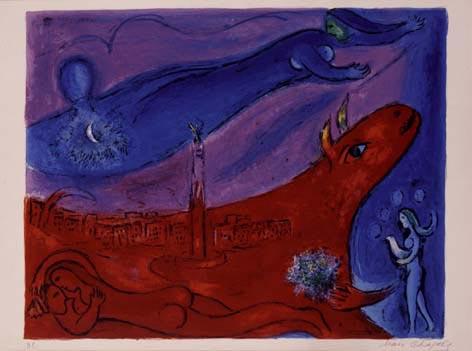 La Bastille, opera di Chagall