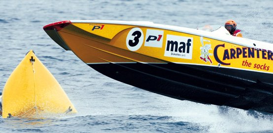 L'equipaggio di Sergio Carpentieri, morto nell'incidente del campionato mondiale Powerboat 1