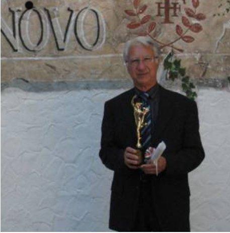 Giuseppe Mascaretti con il Mercurio d'Oro 2007