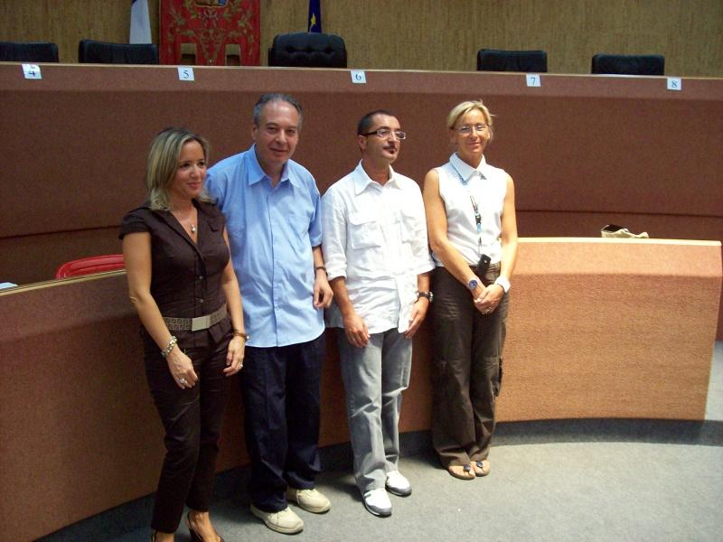 la prof. Daniela Simoni, il prof. Osvaldo Rossi, Sauro Cecchi e Margherita Sorge
