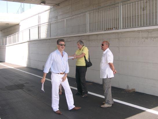 Il Sindaco Luigi Merli, il funzionario responsabile del servizio Assetto del Territorio Marco Marcucci e l'assessore ai Lavori pubblici Fausto Tedeschi