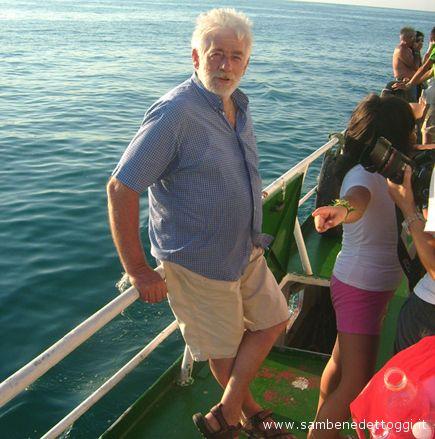 Un vecchio lupo di mare a bordo del motopescereccio Iris