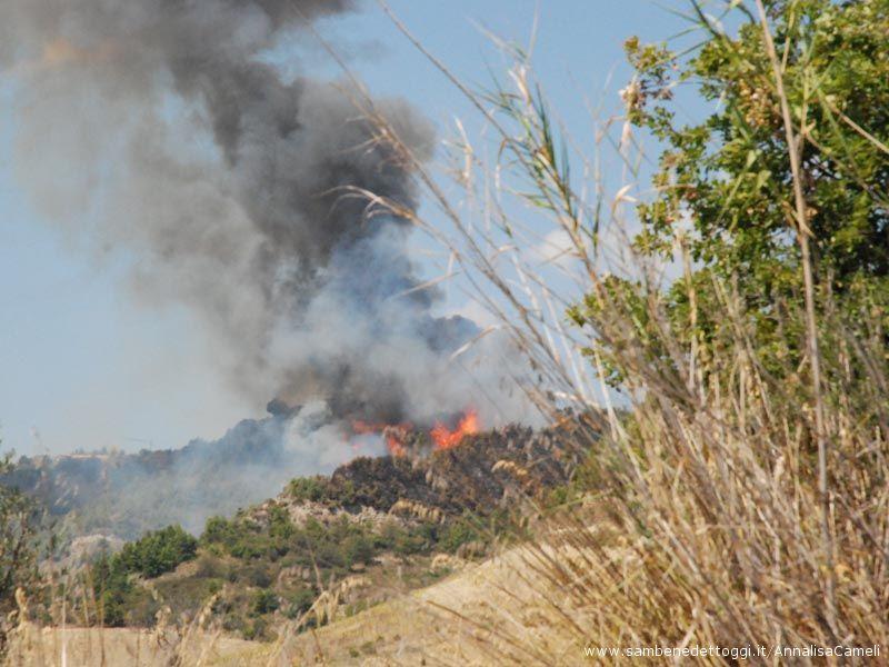 Dopo ieri, ancora fiamme sulle colline ripane