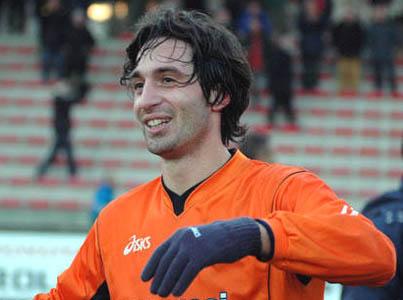L'attaccante Fabio Alteri (foto tratta dal sito www.acpistoiesecalcio.it)