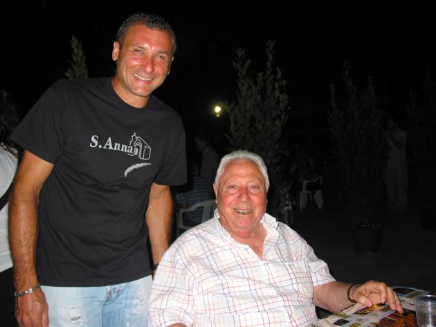 Orlando Marconi con il presidente dell'Associazione Sant'Anna Matteo Troiani