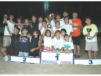 Memorial Fiorini: il podio della categoria Under 14 (Foto Troiani)