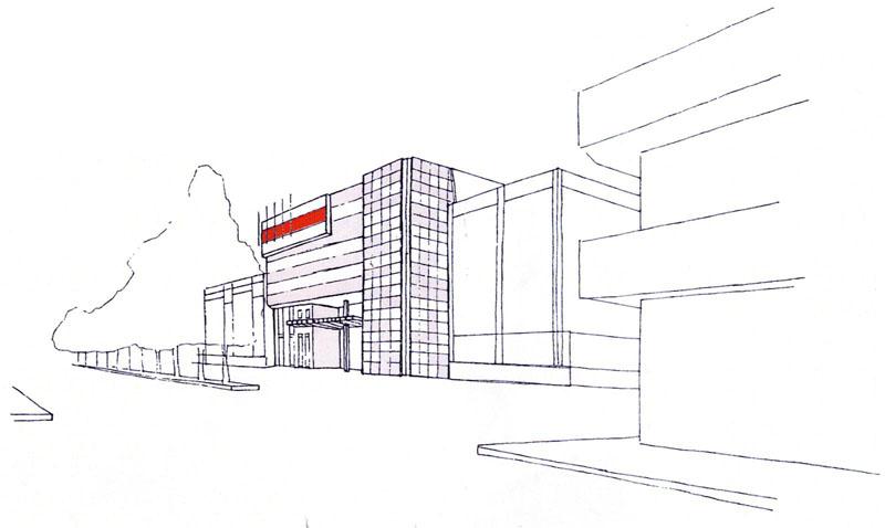 Il disegno del progetto di ampliamento del Liceo Scientifico