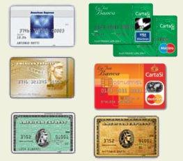 Alcune carte di credito