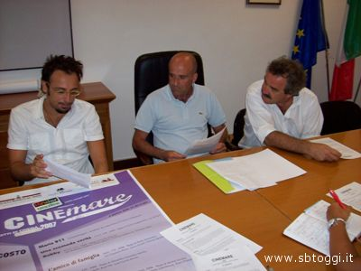Da sinistra Luigi Maria Perotti, Eldo Fanini e Piero Paoletti