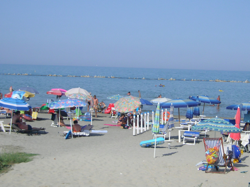 Un tratto di spiaggia a Martinsicuro