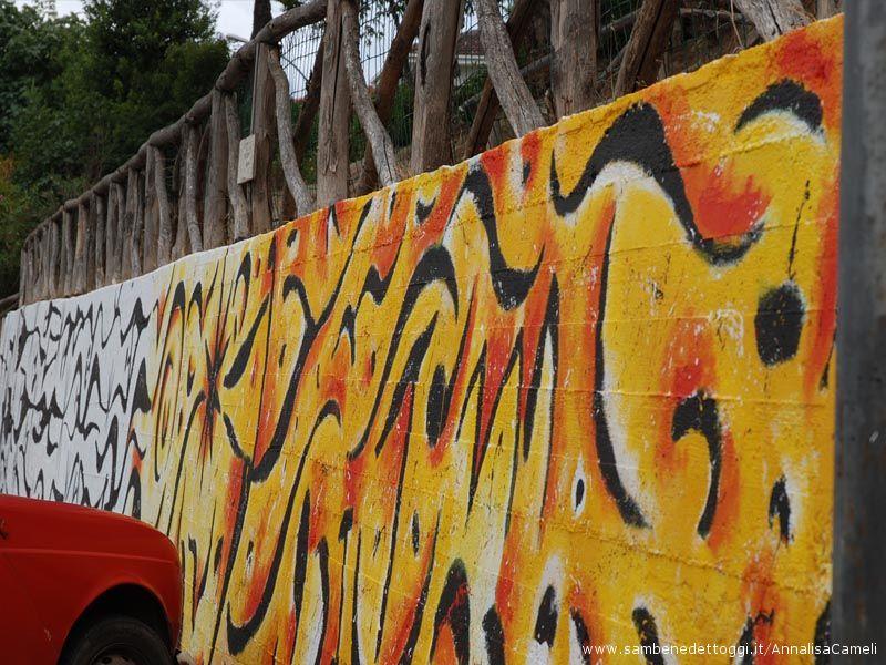 L'ultima parte del murales è dedicato alla speranza di poter eliminare per sempre i fili spinati dalla faccia della terra