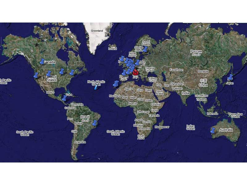 Le località nel mondo dove verranno organizzate manifestazioni di fronte alle ambasciate italiane