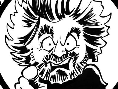 Una caricatura di Beppe Grillo