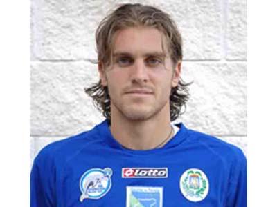 L'attaccante del Lanciano Bonvissuto con la maglia Manfredonia, squadra con cui ha giocato la stagione scorsa (foto tratta dal sito www.olbiacalcio.net)