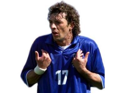 Francesco Moriero quando indossava la maglia della Nazionale (foto www.wsoccer.com)