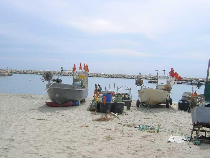 Barche presso il porto di Martinsicuro
