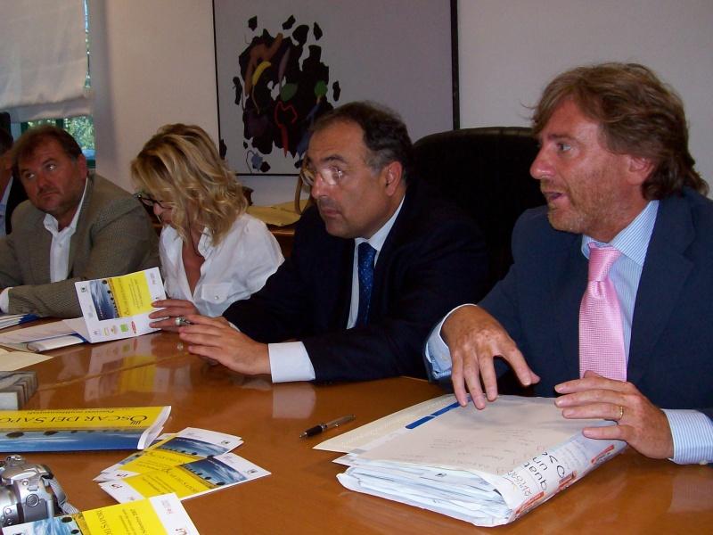 da sinistra: Emidio Mandozzi, Loredana Emili, Luciano Agostini, Ludovico Scortichini