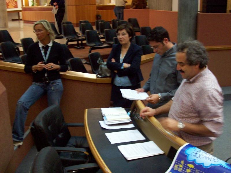 Un momento della conferenza. Da sinistra: Margherita Sorge, Olimpia Gobbi, Dino Rutolo, Giampiero Paoletti