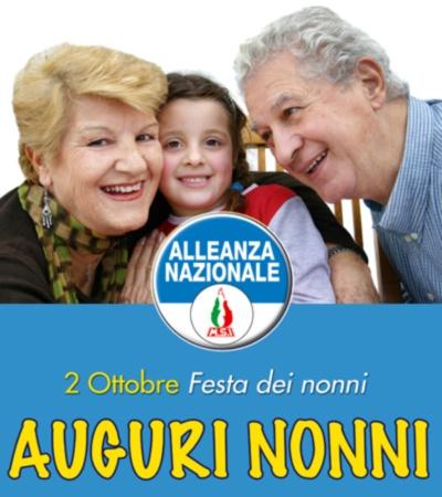 Logo della Festa dei Nonni promossa da Alleanza Nazionale.