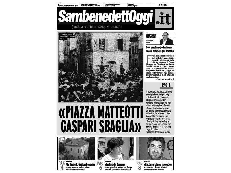 La prima pagina di Sambenedettoggi.it