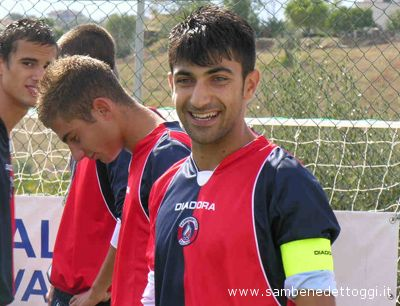 Il capitano della squadra Berretti rossoblu Giuseppe Rossi
