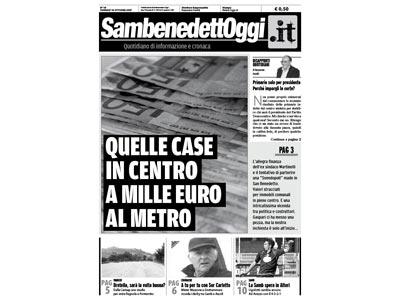 La copertina del numero di Sambenedettoggi.it in edicola venerdì 19 ottobre