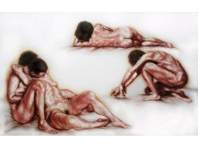 Una delle opere di Alessandro Bellucco in esposizione alla Galleria Marconi
