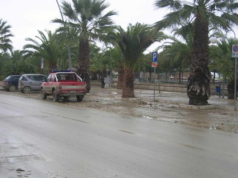 Il lungomare di tortoreto nei giorni successivi all'alluvione