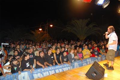 Un concerto al Maremoto Festival del 2007