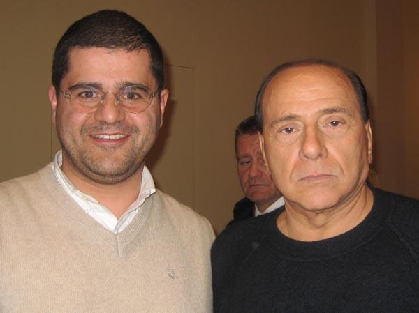 Daniele Voltattorni con Silvio Berlusconi, Fiuggi, marzo 2007
